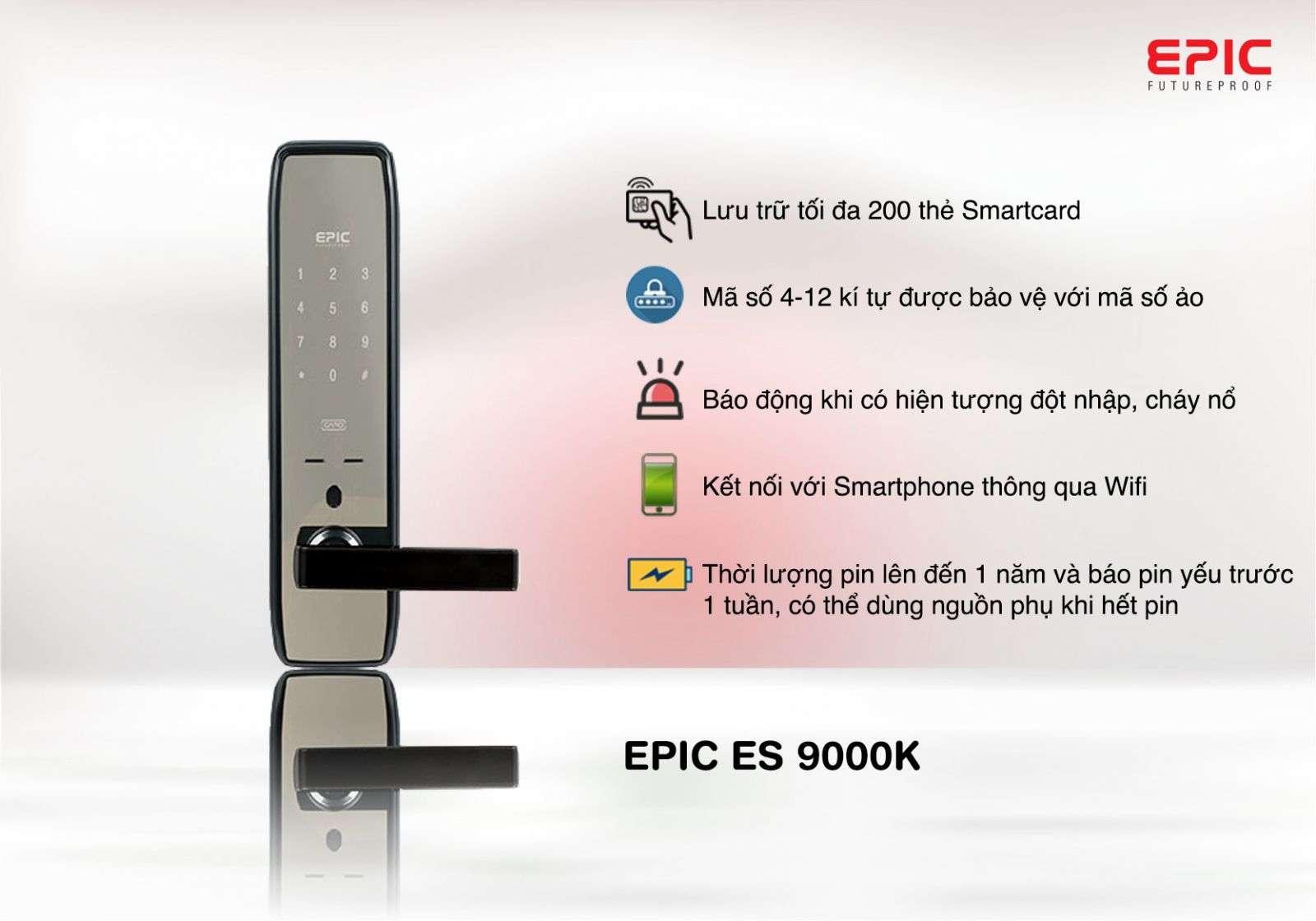 khóa điện tử epic 9000k