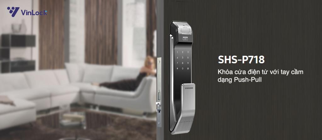 khóa vân tay Samsung SHS P718-9