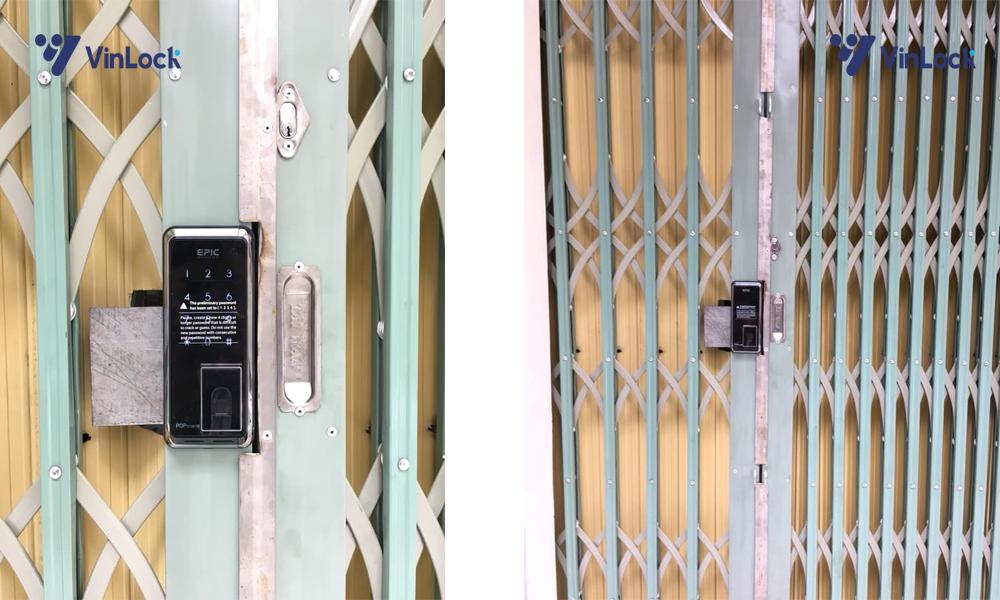 khóa cửa cổng sắt lùa