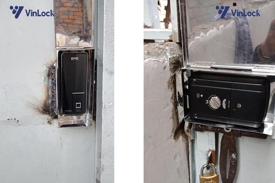 khóa cổng điện tử