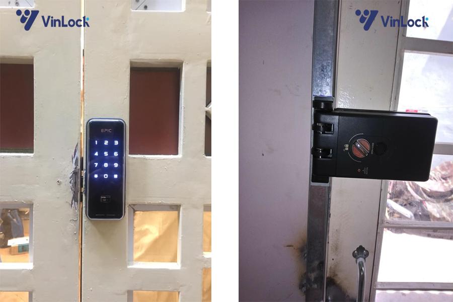 khóa cổng thẻ từ -touch-h