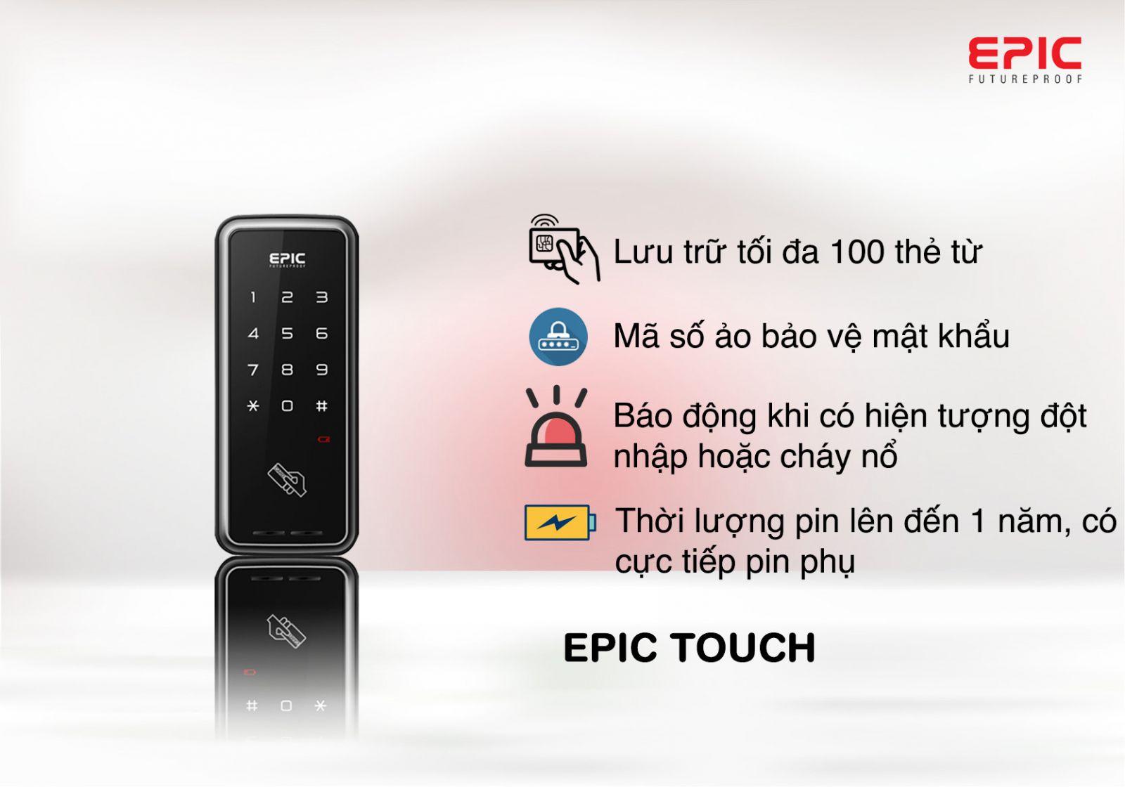 khóa thẻ từ touch-h