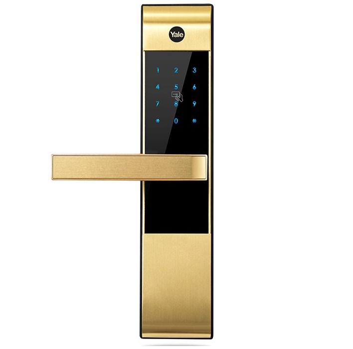 Khóa điện tử vân tay có đắt 1-2Khoa-the-Yale-YDM-3109-Gold